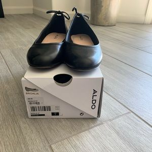 Aldo black flats size 7